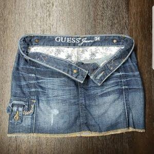 Women's Guess jean skirt size 24